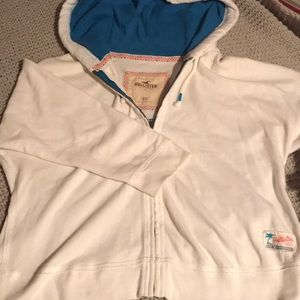 hollister white jacket with tribal print